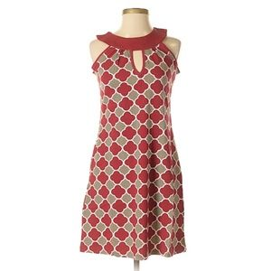 Tracy Negoshian Tile Print Keyhole Dress